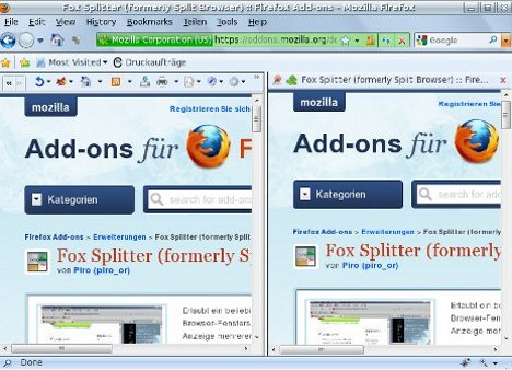 Fox Splitter (Split Browser) Add-on